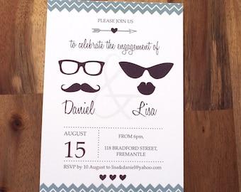 Printable Engagement Party Invitation, Engagement Party Invite, DIY Printable, Wedding or Engagement invites