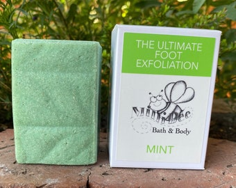 MINT Pumice Soap, Handmade Soap, Cold Process Soap, Footsie Polish~The Ultimate Foot Exfoliation!!!