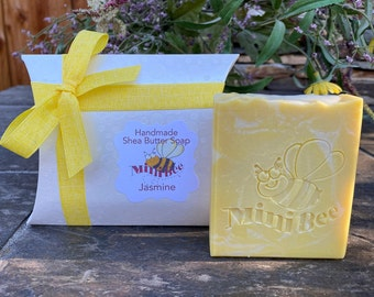 JASMINE Shea Butter Soap, Handmade Soap, Cold Process Soap, Moisturizing
