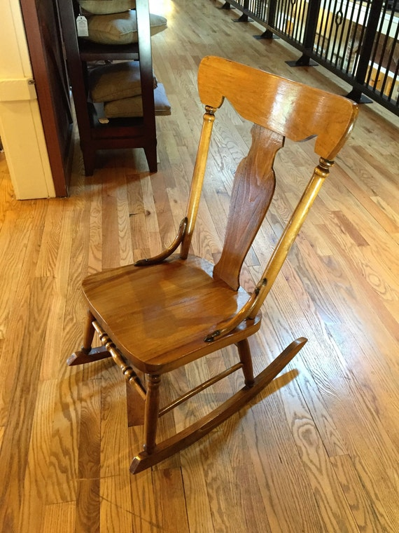 image 0 - Vintage Oak Rocking Chair Etsy