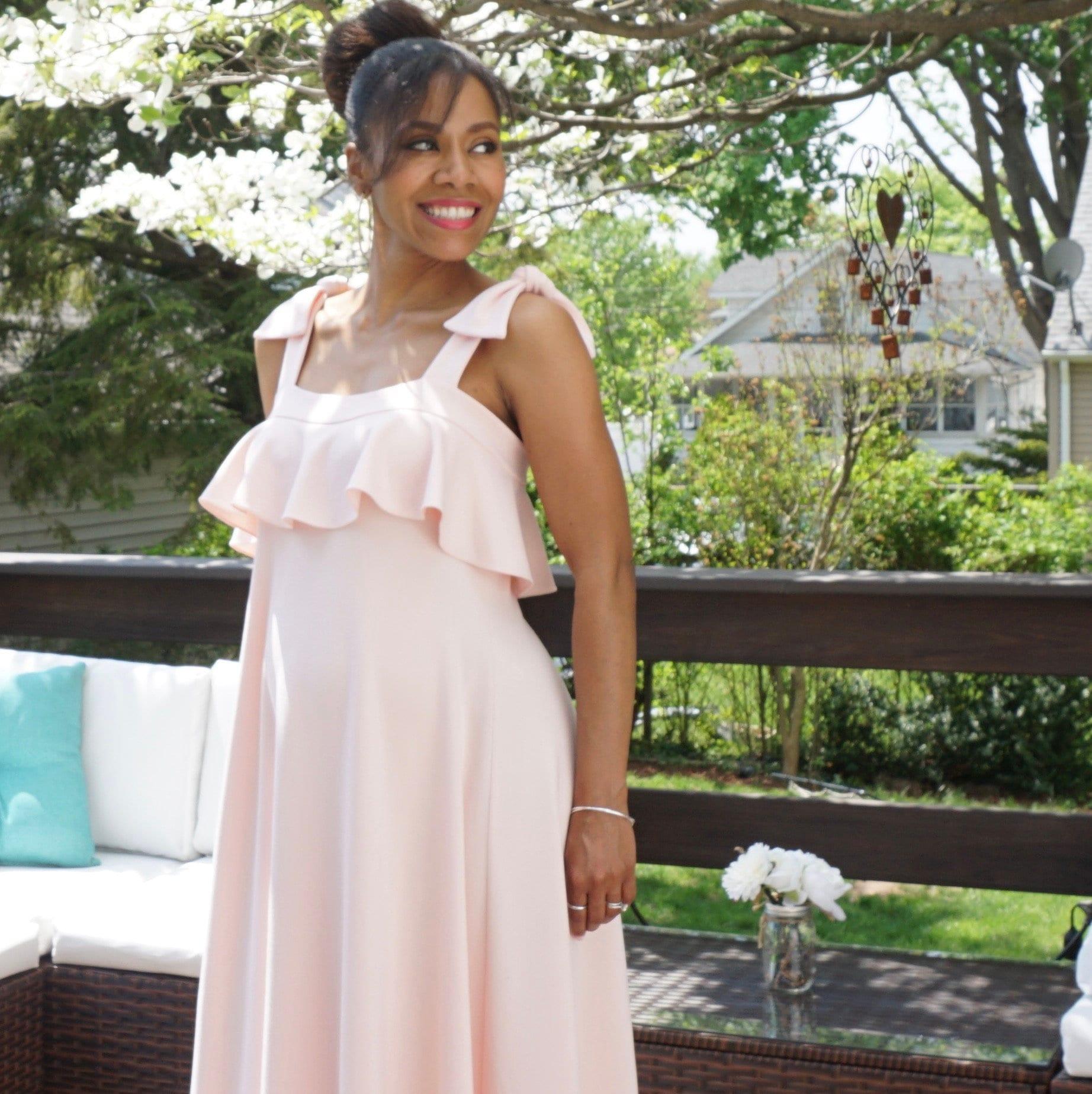 4976b7d6bf90c Spring Maxi Maternity Dresses   Saddha
