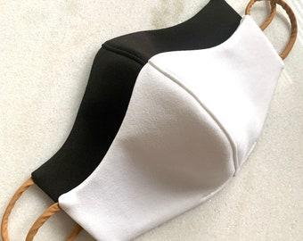 Face Mask - Face Cover - White Mask - Black Mask - 3 Layer Mask - Layered Mask - Handmade Face Mask - Luxury Face Mask - Luxury Face Cover