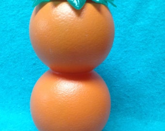 "Smirnoff Vodka Promotional Plastic Oranges Orange Juice Pitcher 9 1/2"""