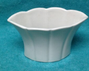 Trenton Pottery Bowl Ivy 3005 White 7""