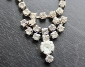 60s Clear Rhinestone Necklace