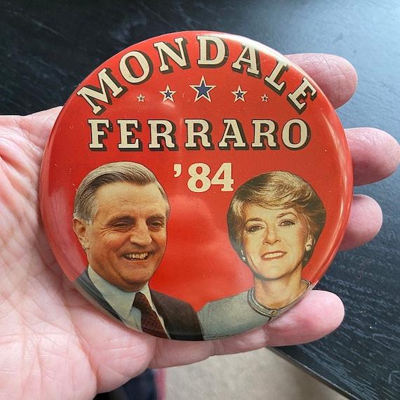 Hawaii Presidential Pin Back Walter Mondale Ferraro Political Campaign Button