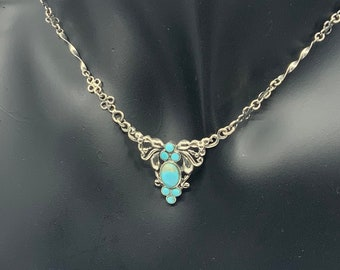 Stunning Sterling silver and turquoise pendant