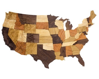 Wooden topographic map of any United States state 3d relief | Etsy