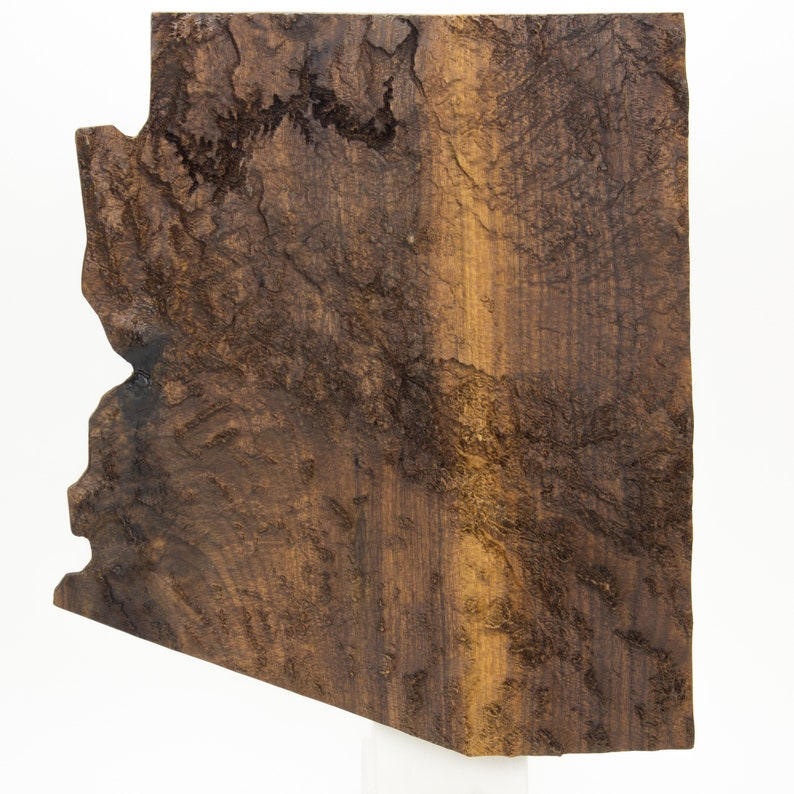 3d Map Of Arizona.Wooden Topographic Map Of Arizona 3d Map Wood Geographic Wall Art