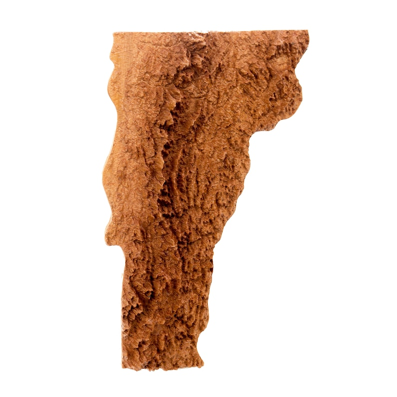 Wooden topographic map of Vermont 3d map wood geographic   Etsy