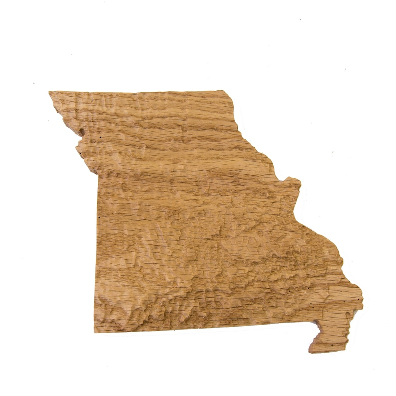 Wooden Topographic Map Of Missouri 3d Map Wood Geographic Etsy