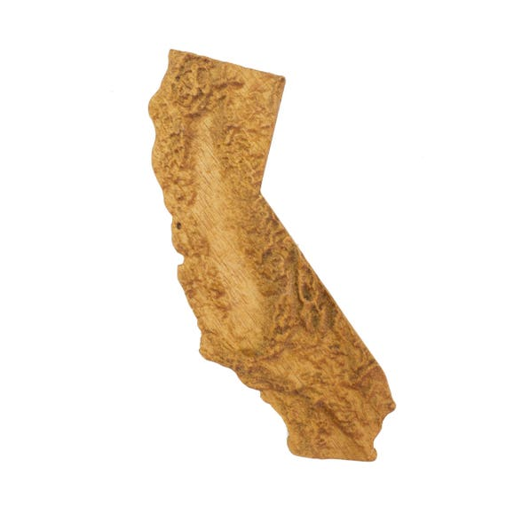 California Map Topography.Wooden Topographic Map Of California 3d Wall Map Wood Map Topographical Map Wall Hanging Magnet California Relief Map
