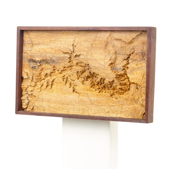 Topographic Map Grand Canyon.Wooden Topographic Map Of The Grand Canyon Wood Relief Map Etsy