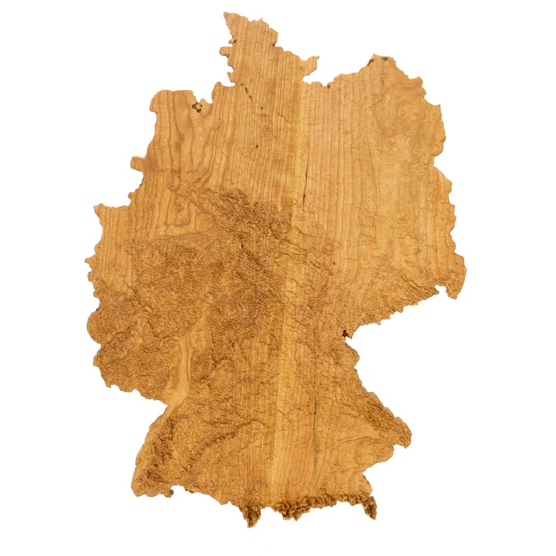 Map Of Germany 3d.Wooden Topographic Map Of Germany Wood Relief Map 3d Map Etsy