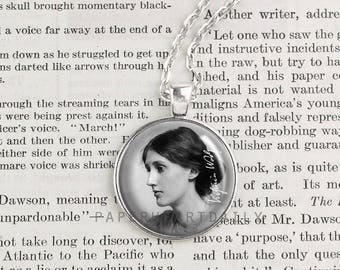 Virginia Woolf - Literature - Author Jewelry - Writer - Book Jewelry - Literary Jewelry - Bloomsbury - Mrs Dalloway - Book Gift -  (A4677)