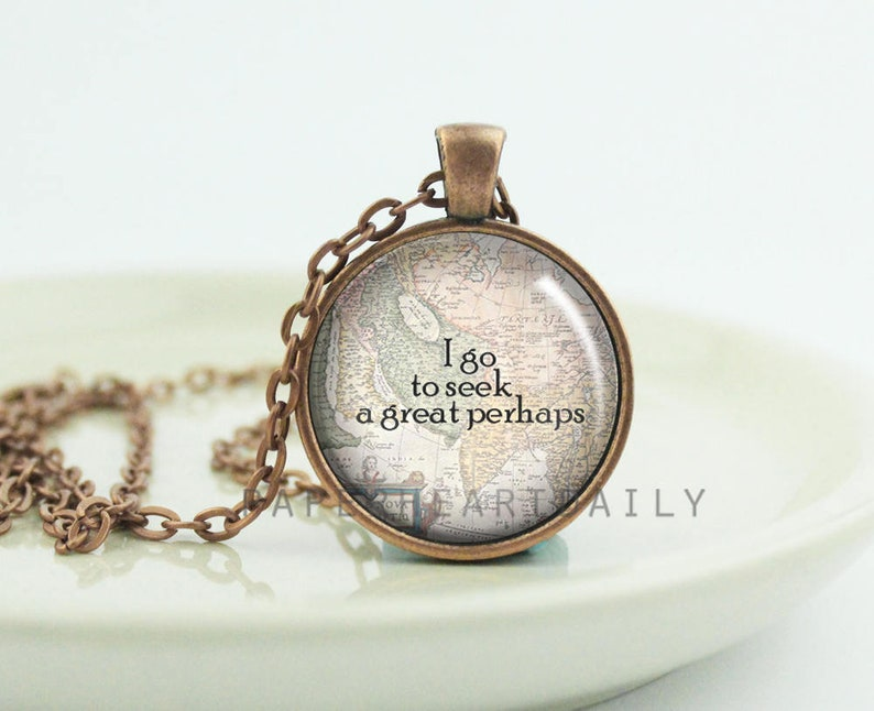 a great perhaps travel quote jewelry wanderlust jewelry
