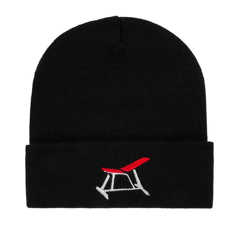 79aa0543e Gym Beanie - Weightlifting Beanie Hat - Gym Gifts for Him - Gym Hat - Black  Beanie