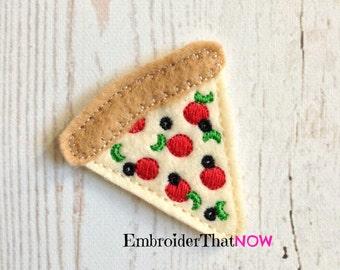 Pizza Pie Digital Feltie Embroidery Design File
