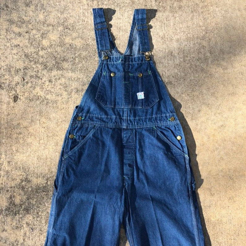 d76edfdd94a0 60s Duck Head Denim Overalls Vintage Denim Utility Workwear