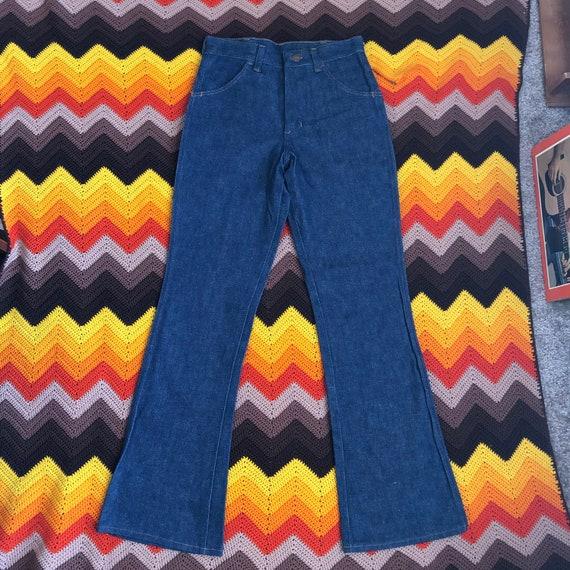 Vintage Deadstock Kids 1970s Maverick SanforSet Bell Bottoms