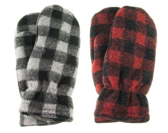 Mittens-Buffalo Plaid, Warm Mittens, Men's Mittens, Women's mittens, Trending Mittens, Plaid Mittens, Lined Mittens, polar mitts, polarmitts