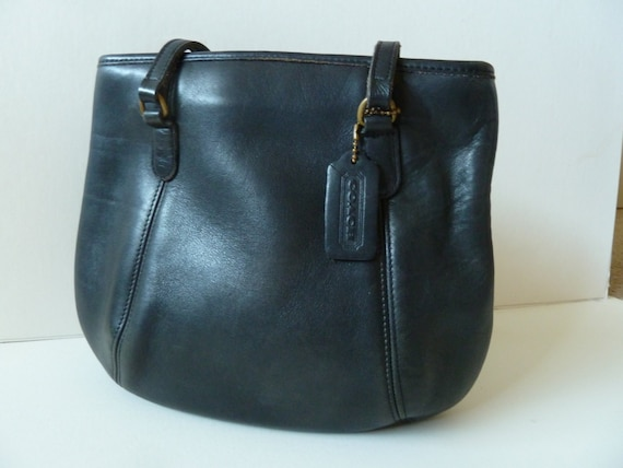 Classic Vintage Coach Framed Pouch Black USA 9996 - image 4