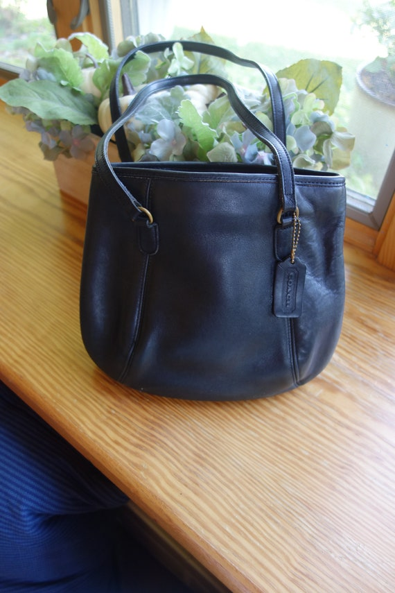 Classic Vintage Coach Framed Pouch Black USA 9996 - image 3