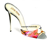 Hand-drawing shoe illustration for print