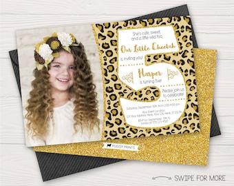 Cheetah Invitation Etsy
