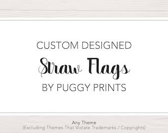 Custom Straw Flags