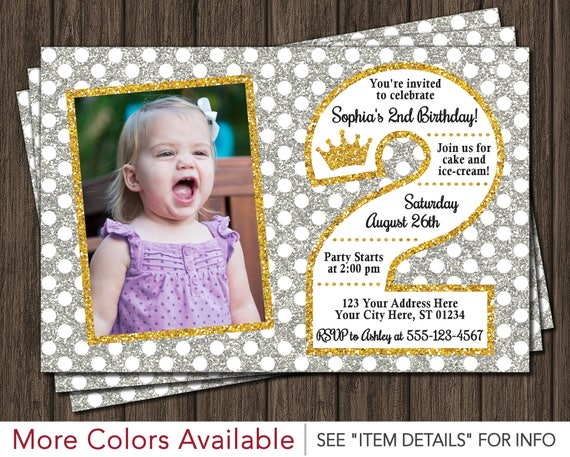 Princess 2nd Birthday Invitation
