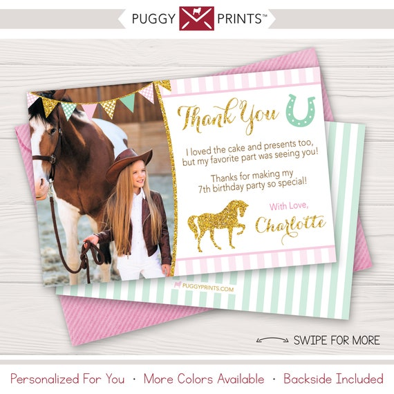 Personalised New Baby Or Birthday Card By Mint Nifty: Horse Birthday Thank You Card