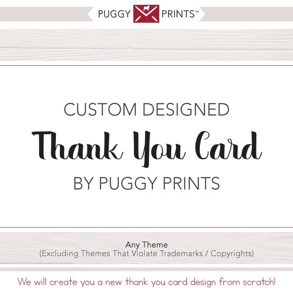 Custom Thank You Card Design New Design For A Printable Thank You