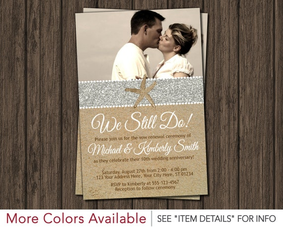 Beach Vow Renewal Invitation Wedding Vow Renewal Invitations By