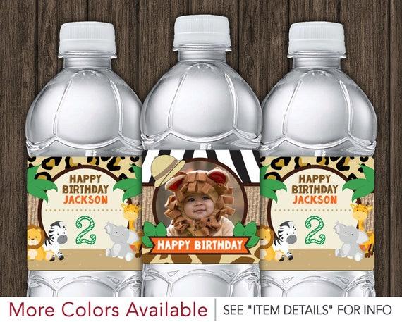 Safari Birthday Water Bottle Labels Printable Jungle Birthday
