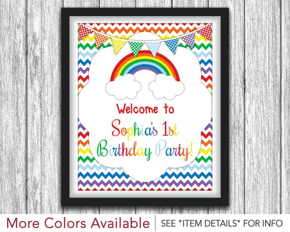 Rainbow Party Sign