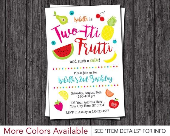 twotti frutti birthday invitation two tti frutti tutti frutti