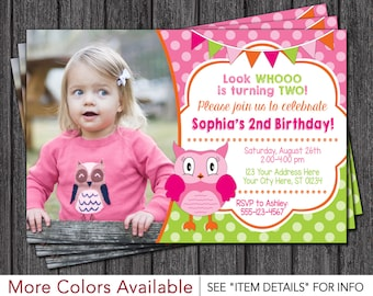 Owl Birthday Invitation