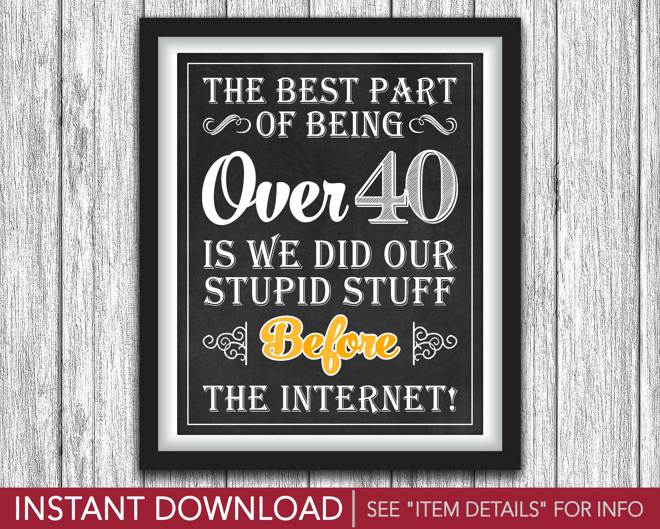 photograph relating to 40th Birthday Signs Printable identify 40th Birthday Signal The Most straightforward Section of Getting In excess of 40 Cheers and Beers towards 40 Several years Concept Printable 8\