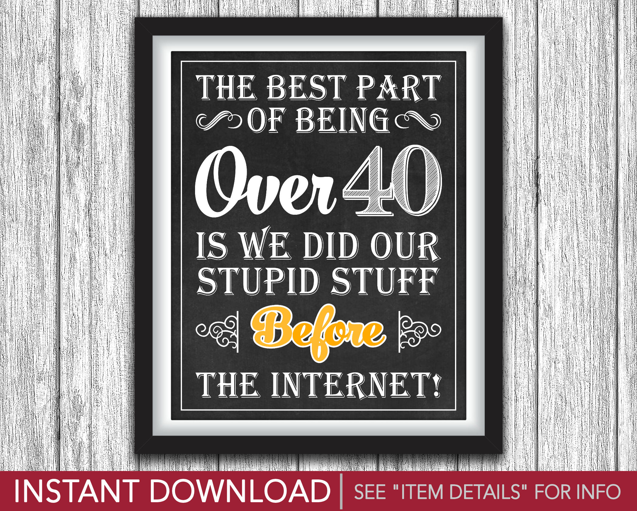 picture relating to 40th Birthday Signs Printable known as 40th Birthday Signal The Ideal Portion of Getting About 40 Cheers and Beers in direction of 40 Yrs Concept Printable 8\