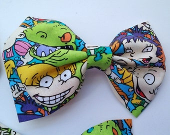 Rugrats Nickelodeon Bow- Rugrats Bow Tie, Rugrats Hair Bow, Nickelodeon Bow, 90's Nickelodeon, Geek Accessories, Geek Bow Tie, Geek Hair Bow