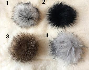 Faux Fur Pompoms, Vegan Pompoms, Cruelty Free Pompoms, Faux Fur, Pompoms, Knitwear Pompom, Faux Fur pompom Hat, Faux Fur Pom Pom for hat