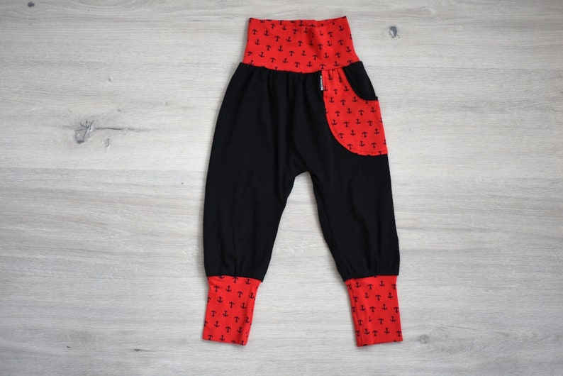 Toddler Jogger Pants Black Anchors On Red 3t Grow With Me Pants Jogger Kids Pants Toddler Joggers Baby Jogger Pants Cloth Diaper Pants