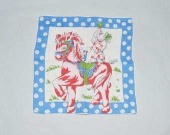 Kiddy Handkerchiefs animal themed 1950s child handkerchiefs