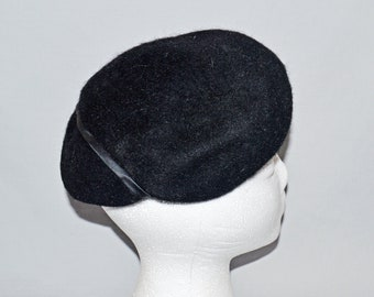 9f1e842cd2d Vintage Ladies  Hat Black Wool Wide-Brim Hat Woolf