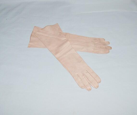 Vintage Gloves - 1960s, Dark Tan Elbow-Length Kid