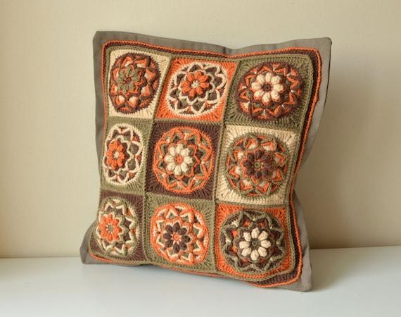 Muster gehäkelte Kissen mit Lotus Blume Oma quadratischen | Etsy