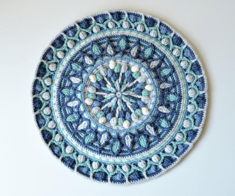 Pattern Overlay Crochet Mandala Dandelion Round Mandala Etsy