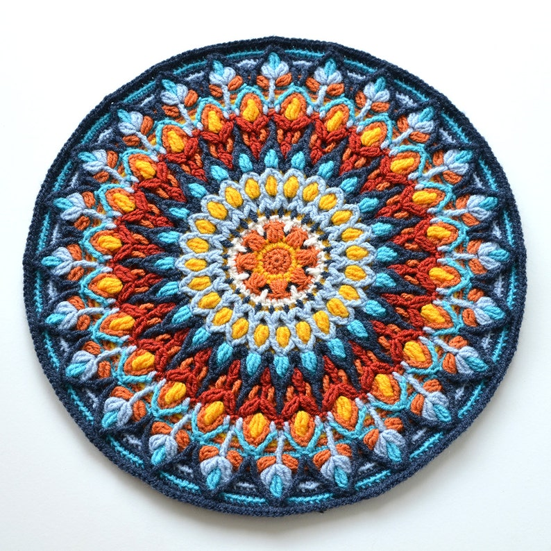 Spanish Mandala Overlay Crochet Pattern Round Colorful Etsy