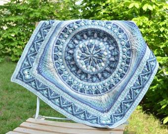 PATTERN - Dandelion Border - Square Edge for Mandala - Instant download - overlay crochet pattern